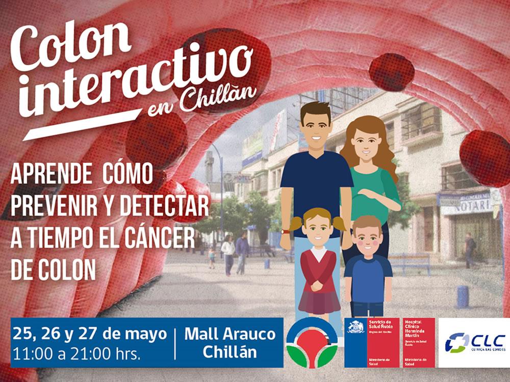 Colon interactivo llega a Chillán para enseñar a prevenir el cáncer de colorrectar
