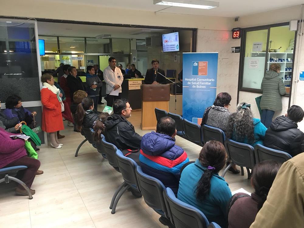 En el Hospital de Bulnes explicaron en qué consiste el programa de acercamiento de medicamentos al paciente