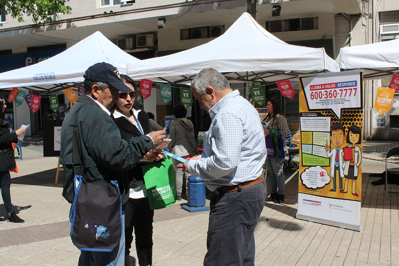 Feria de prevención del cáncer servicio de salud ñuble