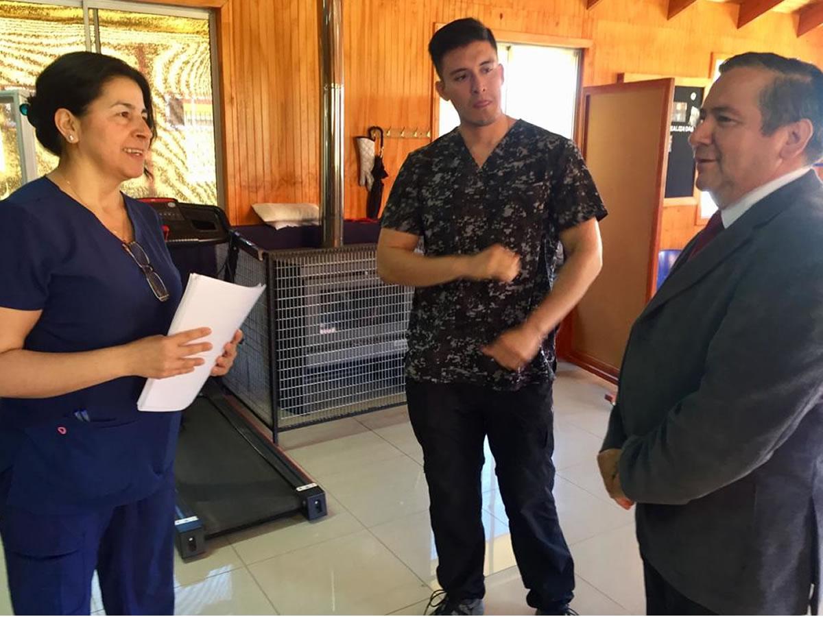 Visita Cesfam San Nicolás Director Servicio de Salud Ñuble