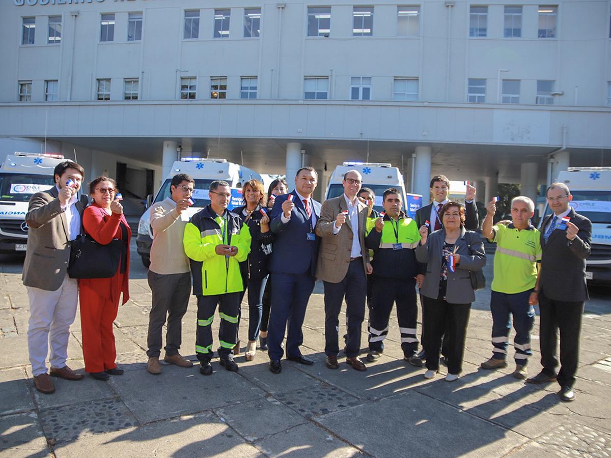 cuatro nuevas ambulancias para Ñuble